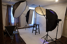 Photo Studio Lights and Background